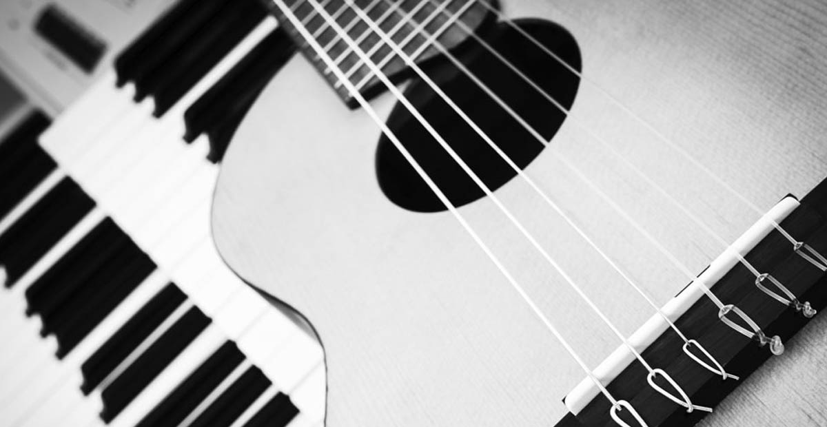Piano and ukulele