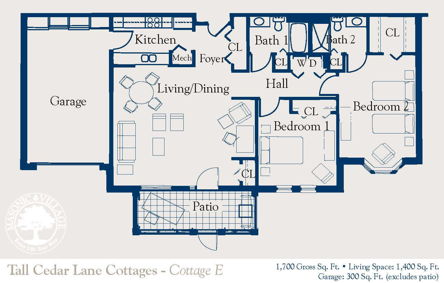 masonic village elizabethtown cottage