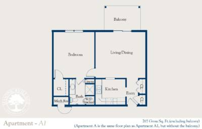 Masonic Village at Dallas, Apartment A1 Floorplan