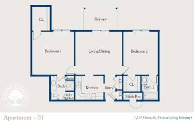 Masonic Village at Dallas, Apartment B1 Floorplan