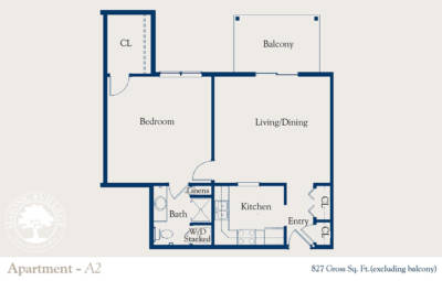 Masonic Village at Dallas, Apartment A2 Floorplan