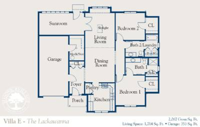 Masonic Village at Dallas, Lackawanna Floorplan