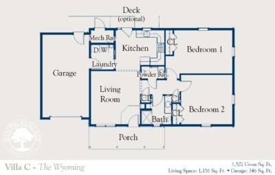 Masonic Village at Dallas, Wyoming Villa Floor Plan