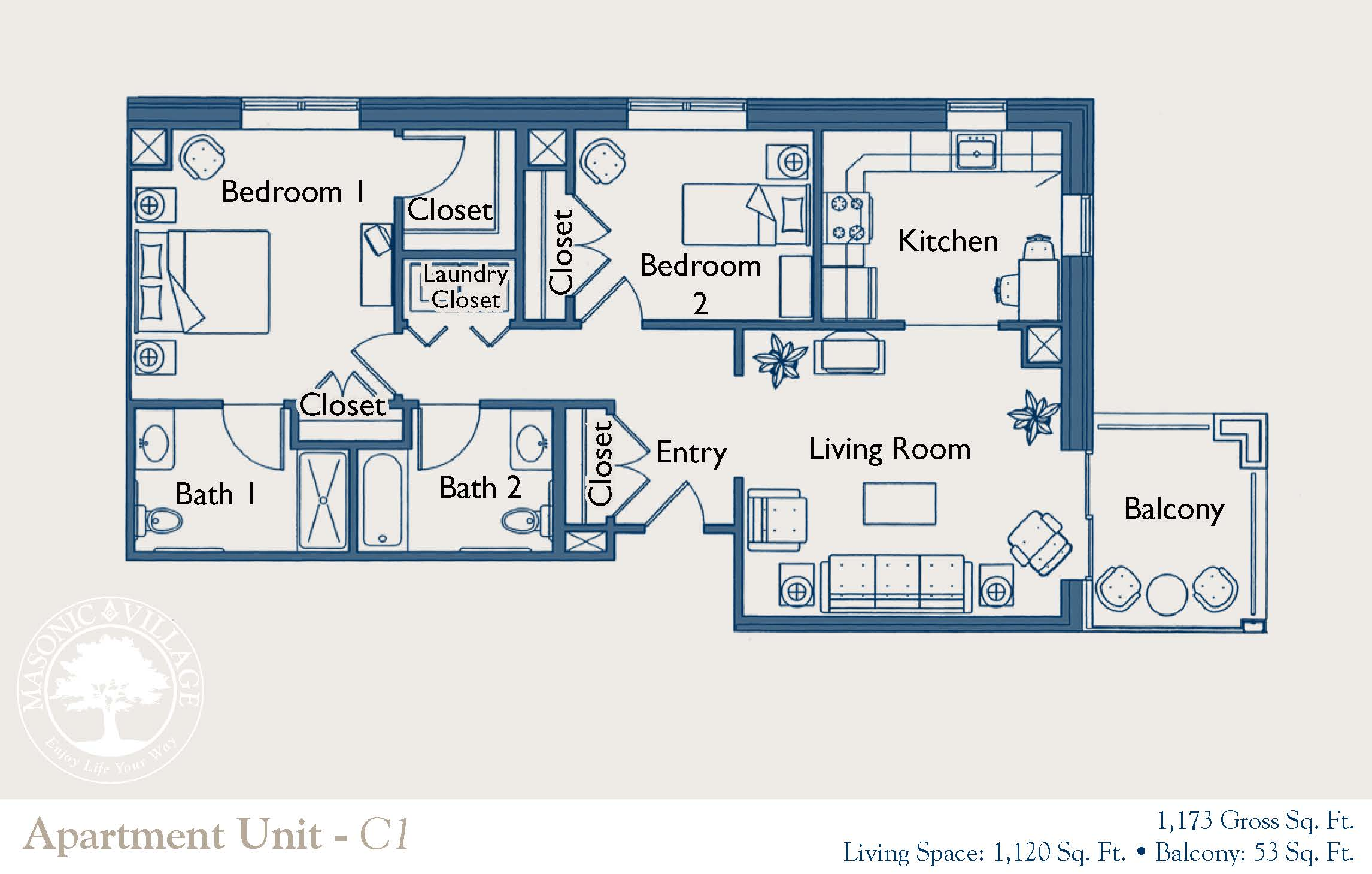 sewickley apartment floor plan