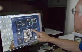 Masonic Village resident Bryan Hill uses K4Connect desktop application