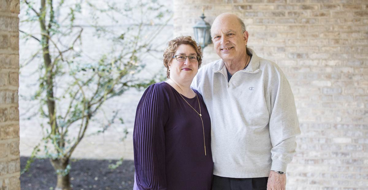Daughter and son of Carol Meridionale, a Masonic Village Hospice patient.
