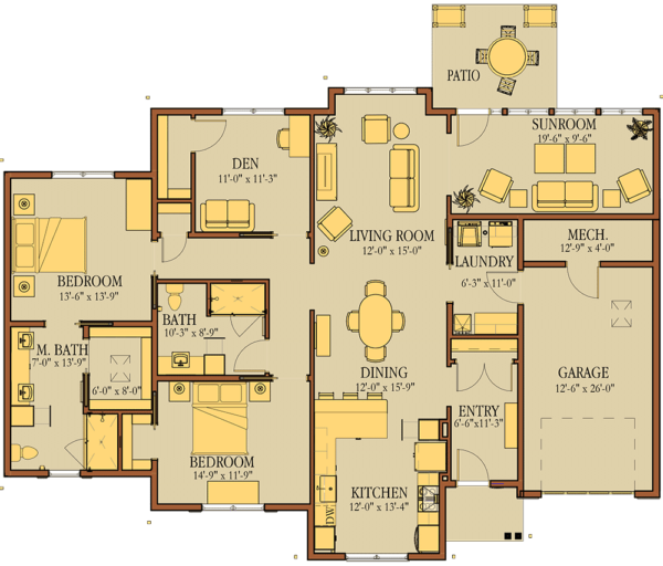 Sewickley Villa 5-1 Floorplan