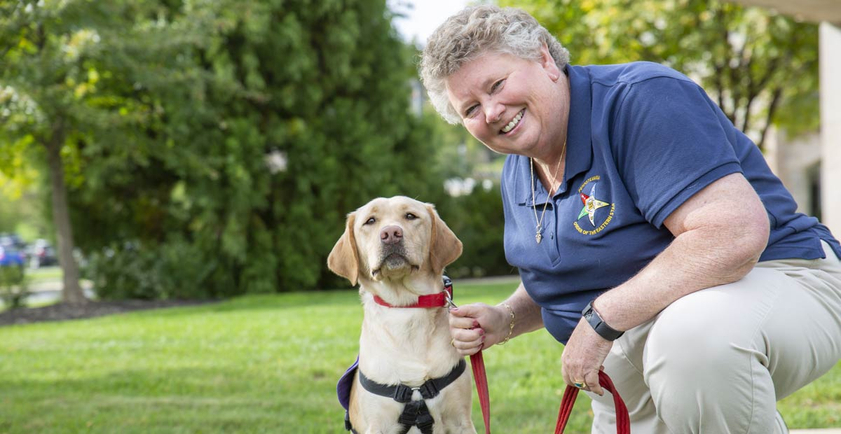 Jo-Anne Karnes and service dog