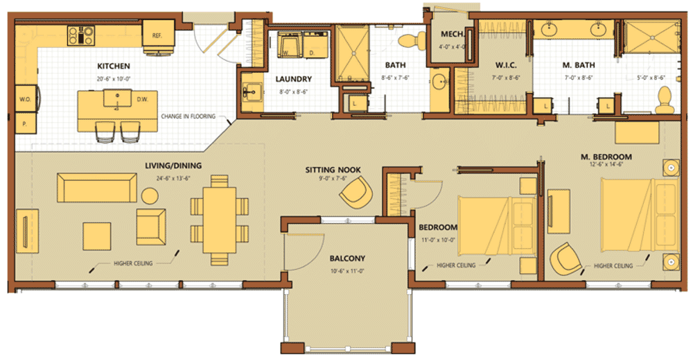 Sycamore Square Townhome A Floor Plan