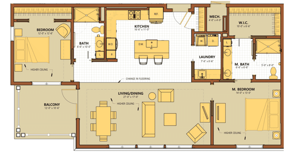 Sycamore Square Townhome B Floor Plan