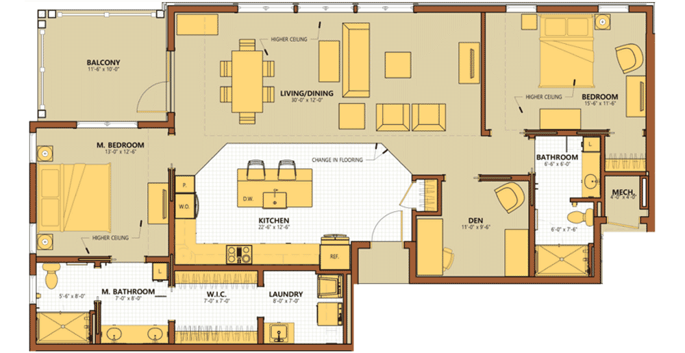 Sycamore Square Townhome C Floor Plan