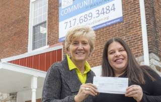 Check presentation to Community Cupboard