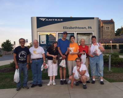 Bleiler Caring Cottage residents volunteer to clean up Amtrak station