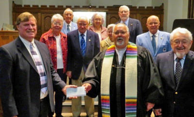Congregation of Sell Chapel check presentation to Elizabethtown Ministerium
