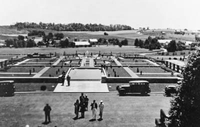 Vintage Elizabethtown formal gardens