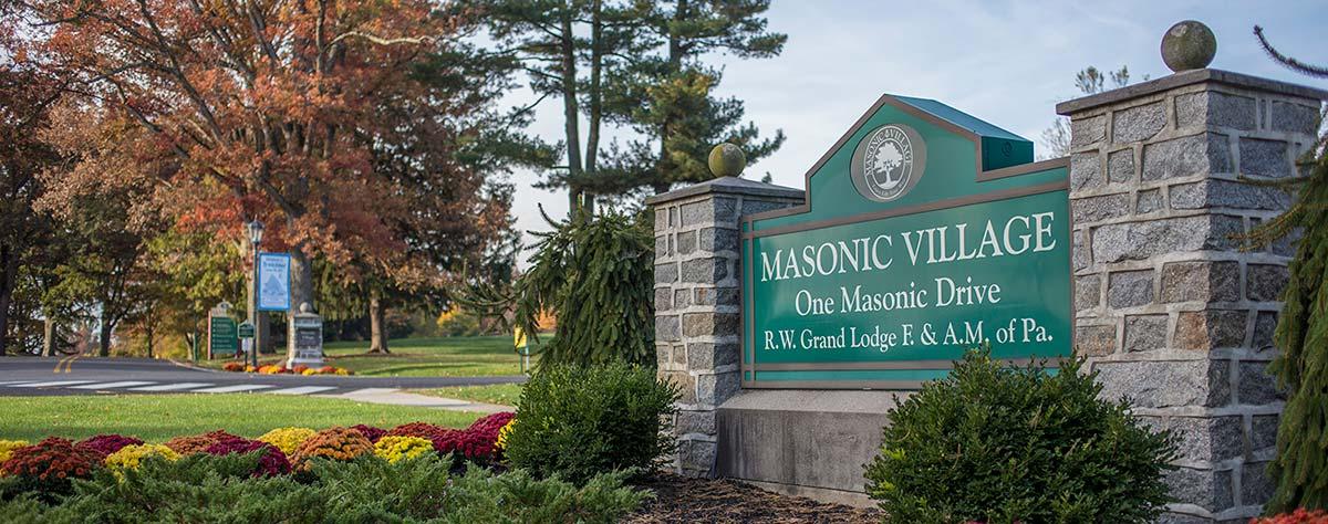 Masonic Village at Elizabethtown front entrance