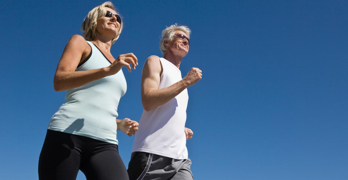 Couple exercising for heart health
