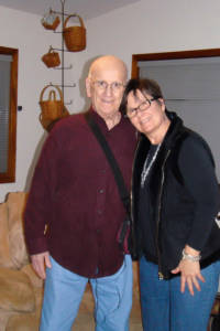Carol Olnick with father, Carl