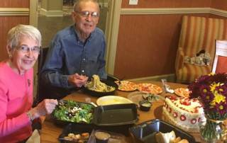 Iris and Max during their 59th wedding anniversary celebration created by Hospice