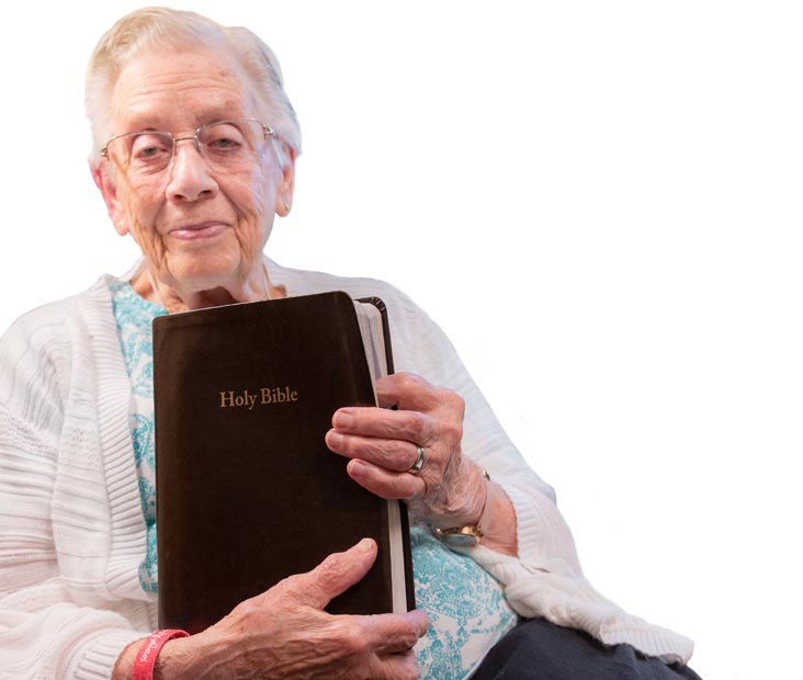 Elizabeth with bible