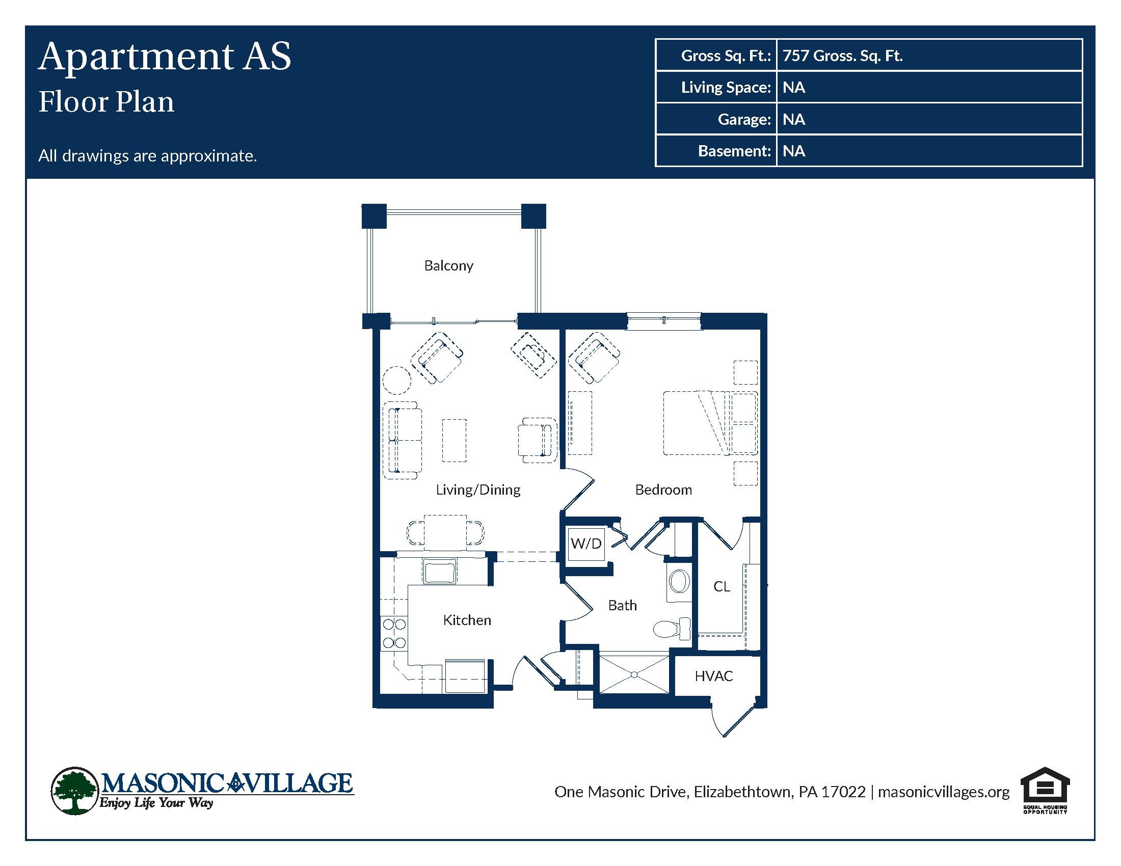 Masonic Village at Elizabethtown - Apartment AS Floor Plan